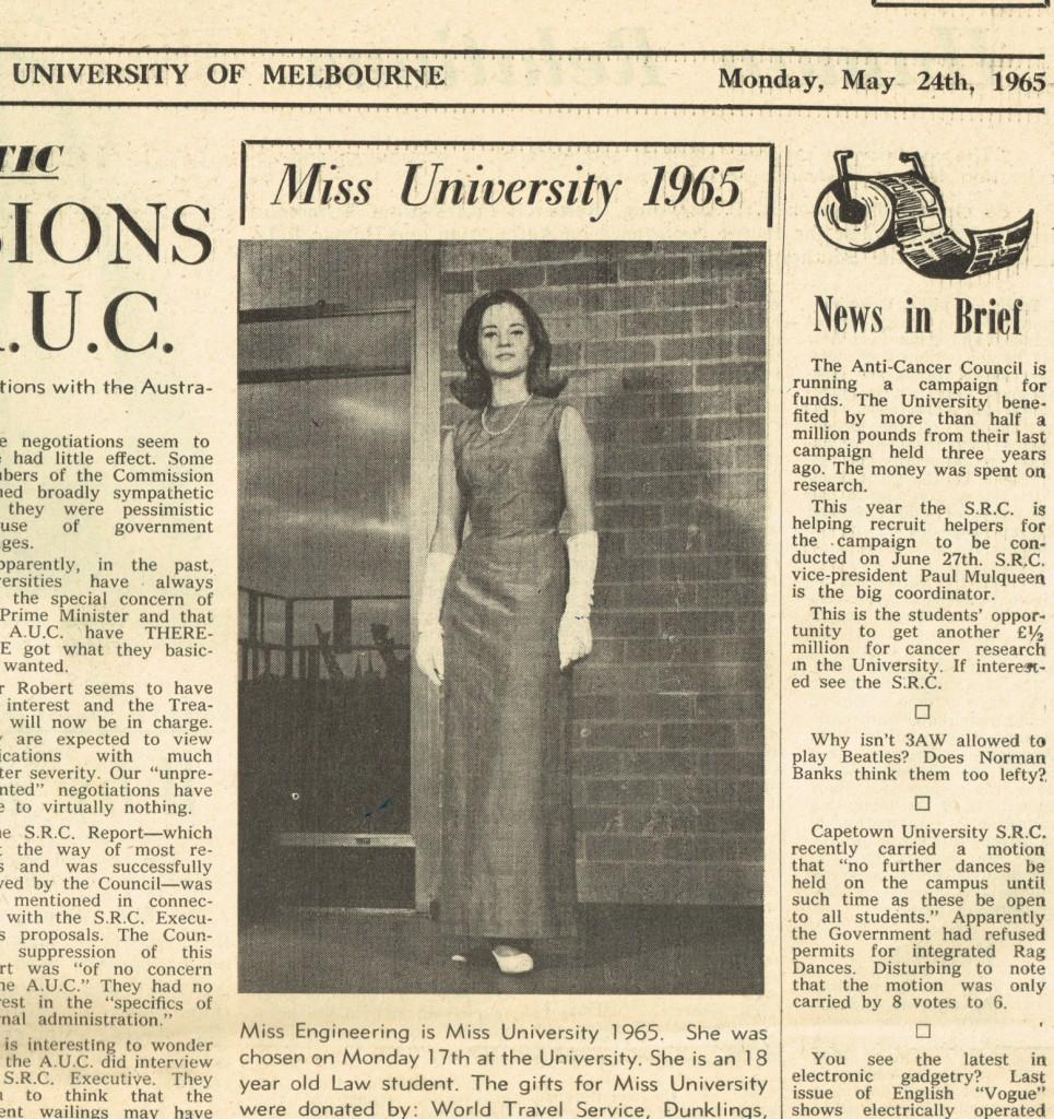 Miss Melbourne Univeristy 196522012015