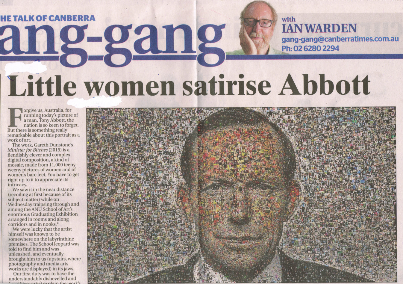 Little women satirise Abbott