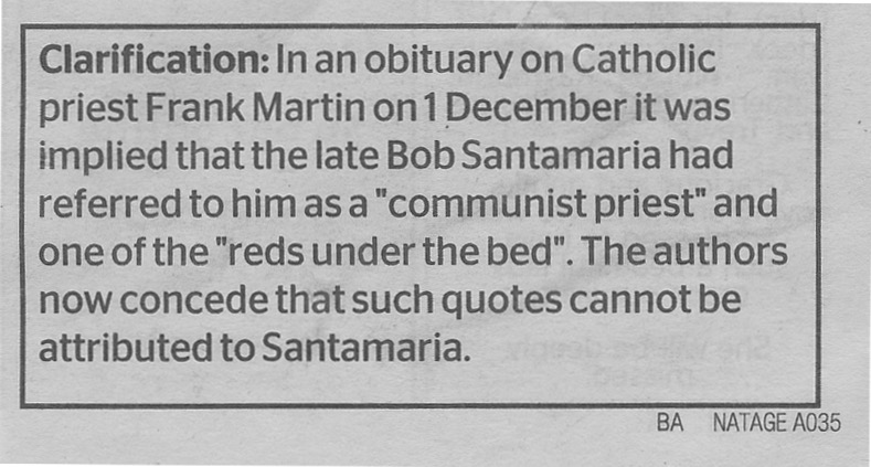 The Age Santamaria Correction