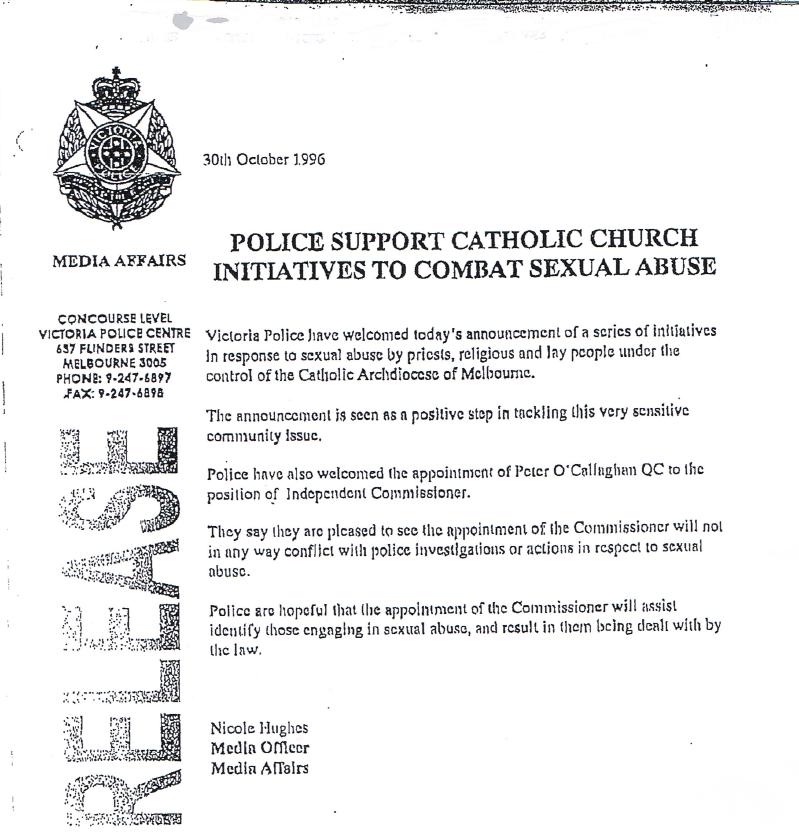 Victoria Police Press Release