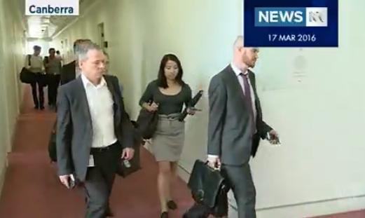 Mark Kenny walks off the job