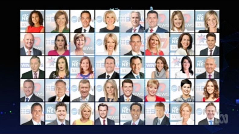"The ""white"" TV presenters shown on Media Watch"