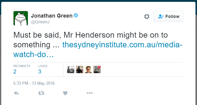 jonathan green tweet